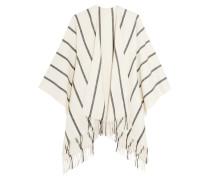 Striped Merino Wool Wrap Creme