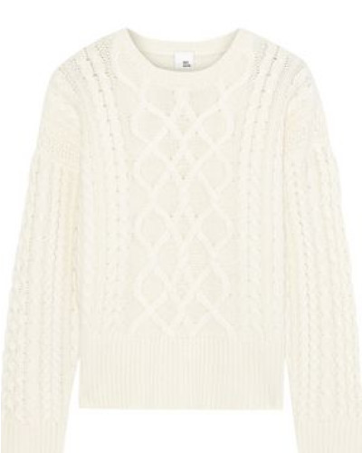 Iona Cable-knit Cashmere Sweater Ivory