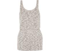 Cotton-blend Playsuit Grau