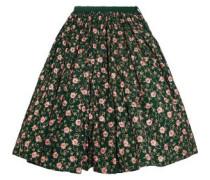 Embellished embroidered cotton midi skirt