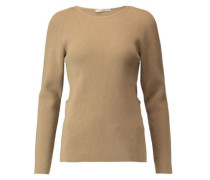 Cutout wool, silk and cashmere-blend sweater