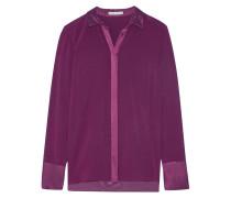 Wyatt Satin-trimmed Silk-blend Chiffon Shirt Plaume