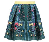 Textured Crepe Skirt Türkis