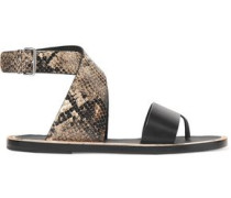 Mailin snake-effect leather sandals