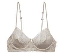 Clea Embroidered Mesh And Cotton-jersey Underwired Balconette Bra