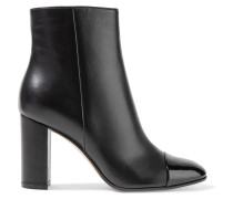 Smooth And Patent-leather Ankle Boots