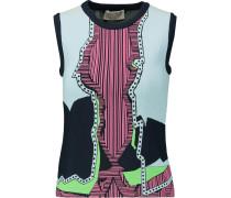 Jacquard-knit Top Mehrfarbig