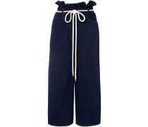 Belted Cotton Culottes