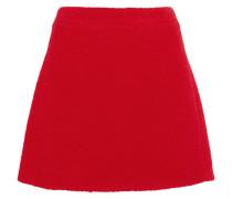 Teddy Wool-blend Bouclé Mini Skirt Rot