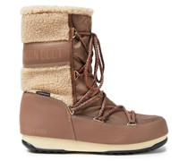 Monaco Shearling-trimmed Shell Snow Boots