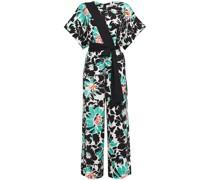 Karissa Wrap-effect Floral-print Stretch-crepe Wide-leg Jumpsuit