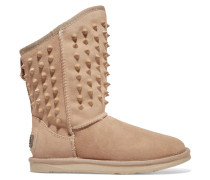 Pistol Studded Shearling Boots Sand