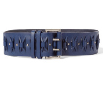 Cintura Leather Belt Navy