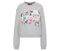 Embroidered Printed French Cotton-terry Sweatshirt