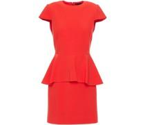 Ember Stretch-crepe Peplum Mini Dress