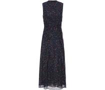 Ruched Floral-print Silk-georgette Midi Dress