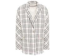 Vianey Blazer aus Bouclé-tweed aus Einer Baumwollmischung mit Karomuster