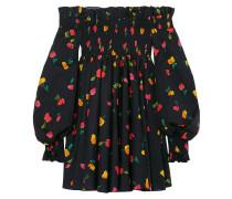 Off-the-shoulder Floral-print Cotton-blend Mini Dress