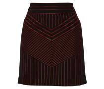 Embroidered Woven Mini Skirt Schwarz