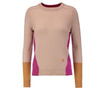 Color-block Cashmere Sweater Neutral
