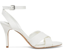 Woman Ivy Leather Sandals White