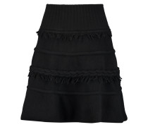 Fringe-trimmed Wool And Cashmere-blend Mini Skirt Schwarz