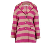 Striped brushed wool-blend jacket