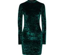 Lulu Crushed-velvet Mini Dress