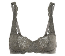 Woman Never Say Never Prettie Lace Underwired Bra Army Green