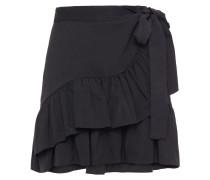 Jahima Wrap-effect Ruffled Woven Mini Skirt
