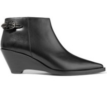 Carrie leather wedge ankle boots