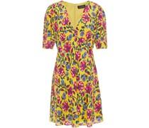 Corinne Floral-print Silk Crepe De Chine Mini Dress