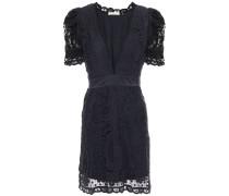 Daniela Satin-trimmed Crocheted Cotton-lace Mini Dress