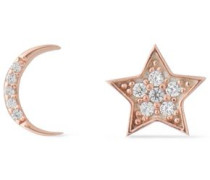 Rose gold-plated crystal earrings
