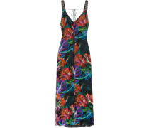 Embellished Floral-print Silk-chiffon Gown Mehrfarbig