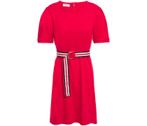Belted Cotton-jersey Mini Dress