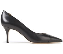 Smooth And Lizard-effect Leather Pumps