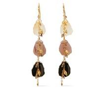 18-karat Gold-plated Sterling Silver Multi-stone Earrings