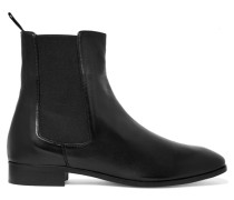 Leather Ankle Boots Schwarz