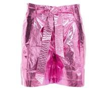 Lumi Shorts aus Beschichteter Baumwolle mit Metallic-effekt