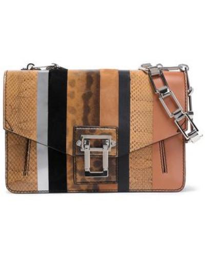 Proenza Schouler Damen Paneled snake, suede and leather shoulder bag
