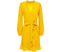 Seya Ruffled Polka-dot Jacquard Wrap Dress