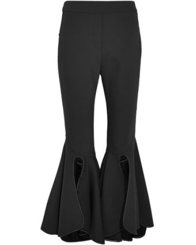 Ox Bow Crepe Flared Pants Black