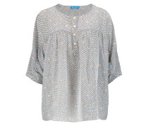 Zodiac Printed Washed-silk Top Mehrfarbig