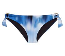 Low-rise Printed Bikini Briefs Blau