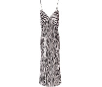 Issa Zebra-print Silk-satin Slip Dress