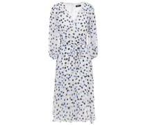 Wrap-effect Polka-dot Georgette Dress