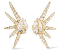 Gold-tone Quartz Earring