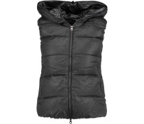 Febedue Quilted Wool And Cashmere-blend Down Vest Schiefer