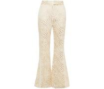 Metallic Cotton-blend Jacquard Flared Pants